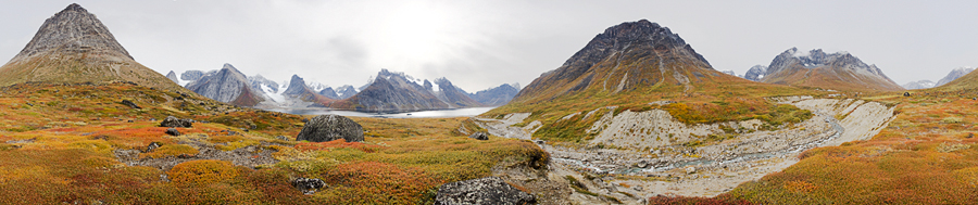 greenland panoramic mountains